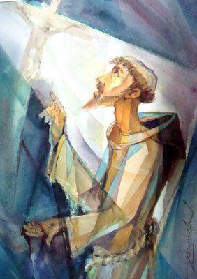 Francis before cross B