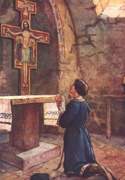 Francis in conversion before S Damiano
